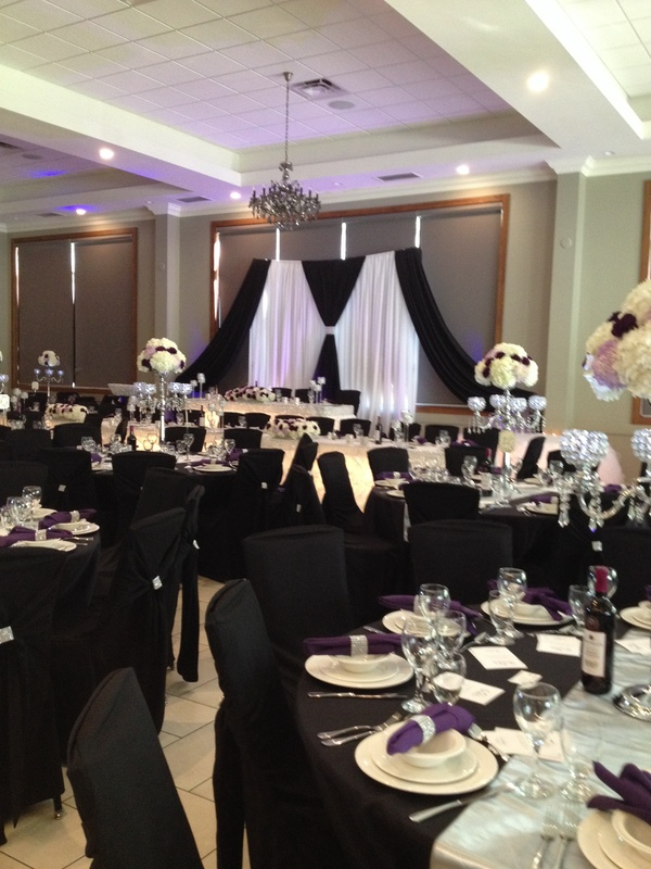 black wedding decoration