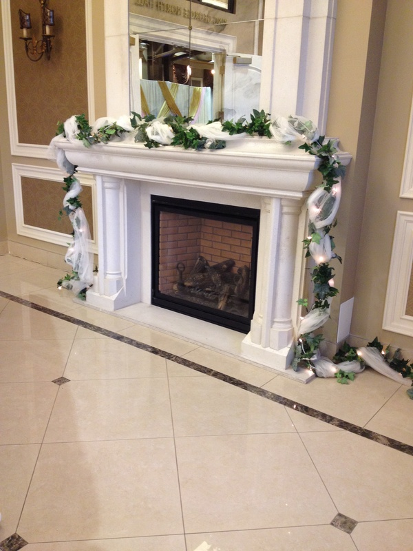 wedding fireplace garland