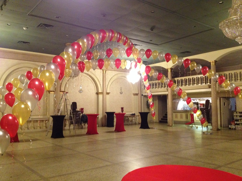 balloon arches for dancing area